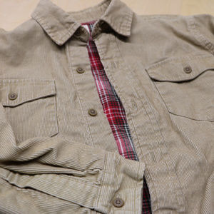 Boys CRB 10/12 Corduroy Tan Long Sleeve Button up